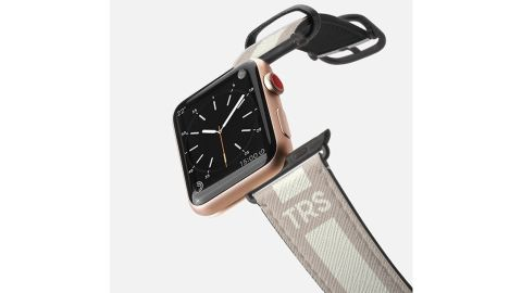 Saffiano Leather Initial Apple Watch Band