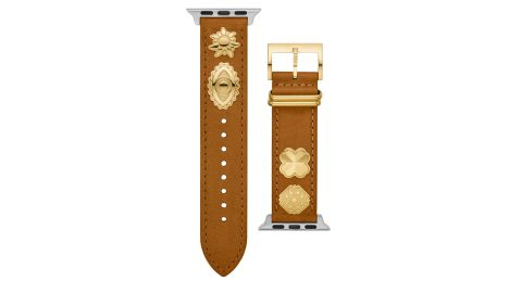 Tory Burch Luggage Leather Watch Band