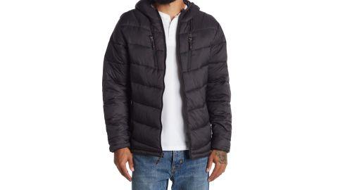 Hawke and Co Chevron Print Hooded Jacket
