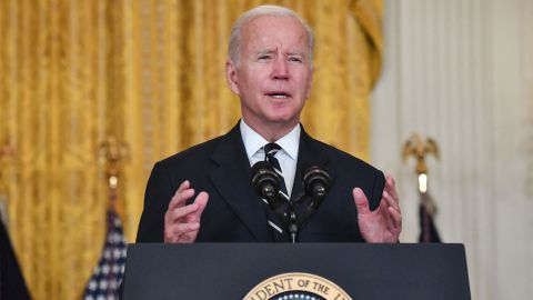 US President Joe Biden speaks about his administration's social spending plans, from the East Room of the White House in Washington, DC, on October 28, 2021. - Biden set out details of a revamped USD 1.75 trillion social spending package Thursday to structure a more equitable economy and tackle climate change, the culmination of weeks of intense negotiation.