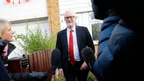 Jeremy Corbyn pictured leaving his London home on Friday