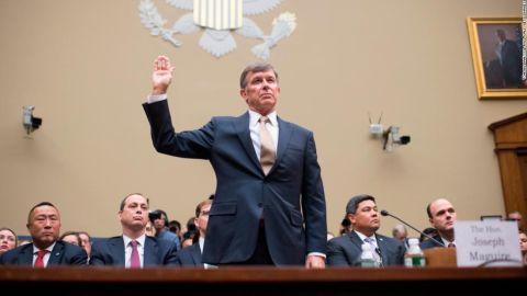 Acting Director of National Intelligence Joseph Maguire is sworn in for testimony.