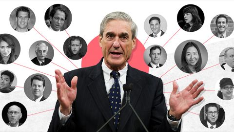 Special counsel Robert Mueller assembled a team of at least 17 lawyers for his investigation of Russian interference in the 2016 election and potential collusion between the Trump campaign and Russia.